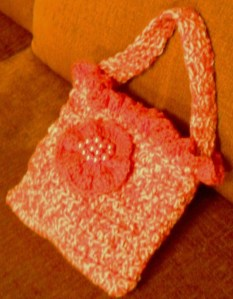 CMS-Lil Orange Tweed Bag 3